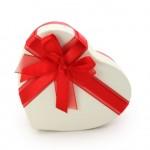 Geschenk in Herzform